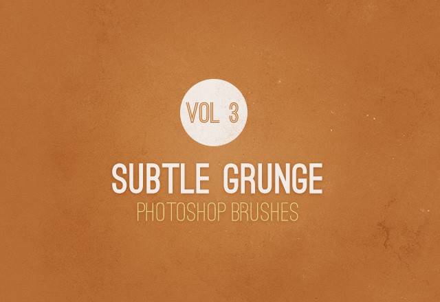 Subtle Grunge Brushes - Vol 3