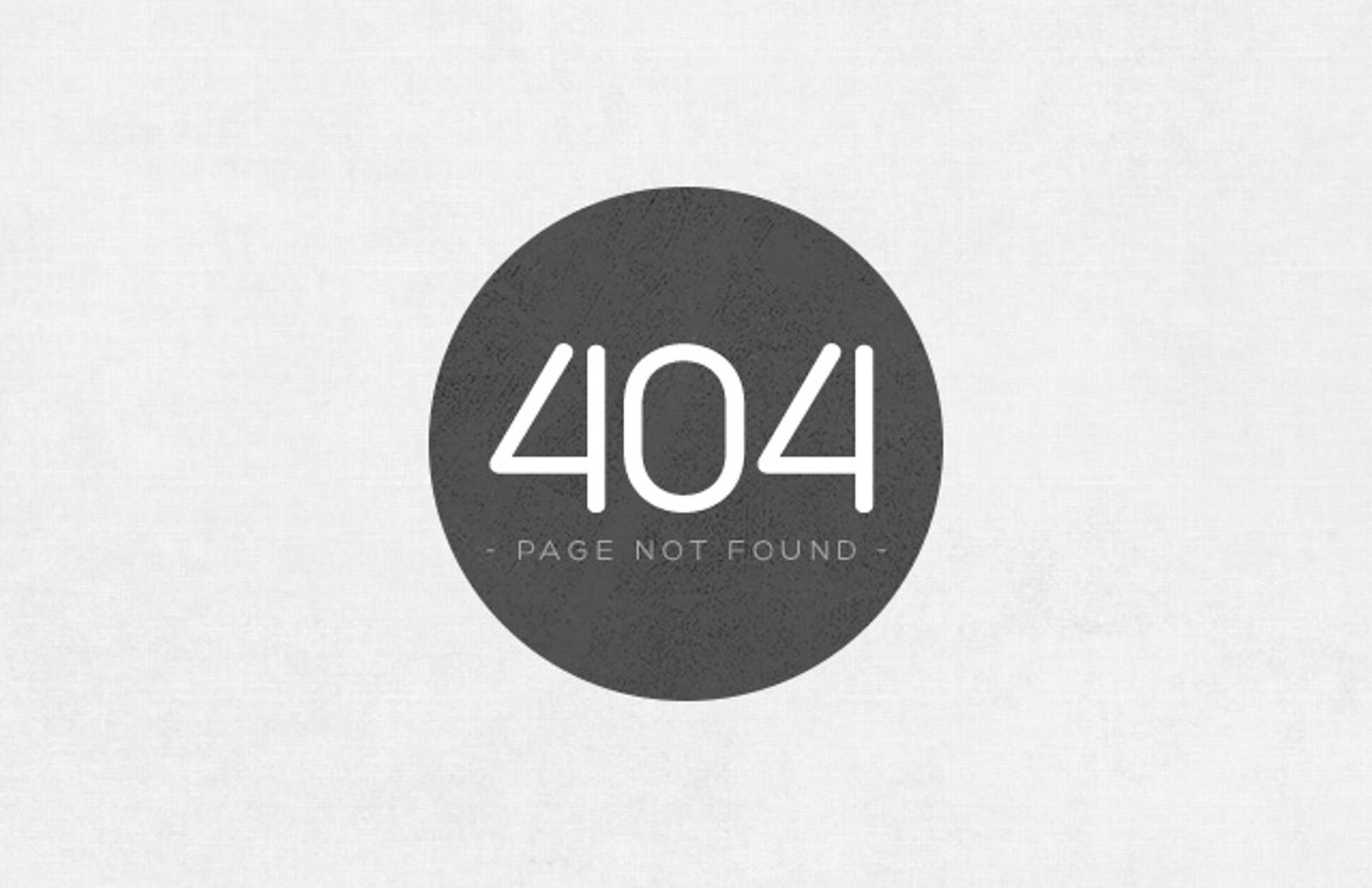 Subtle Grunge 404 Error Page (CSS) — Medialoot