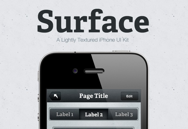 Surface iPhone UI Kit