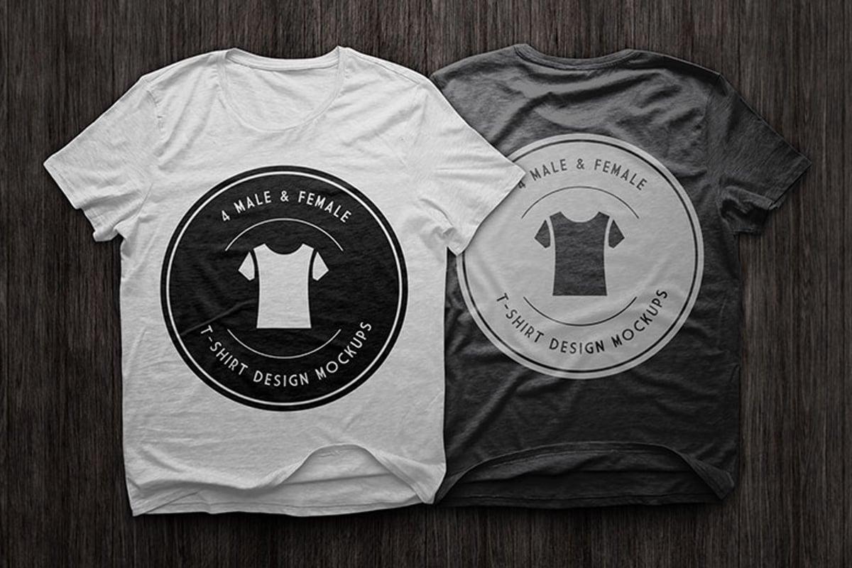 T Shirt Design Mockups Pack     Medialoot