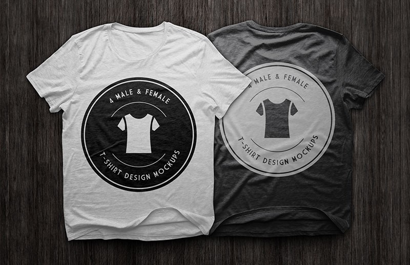 T Shirt Design Mockups Pack
