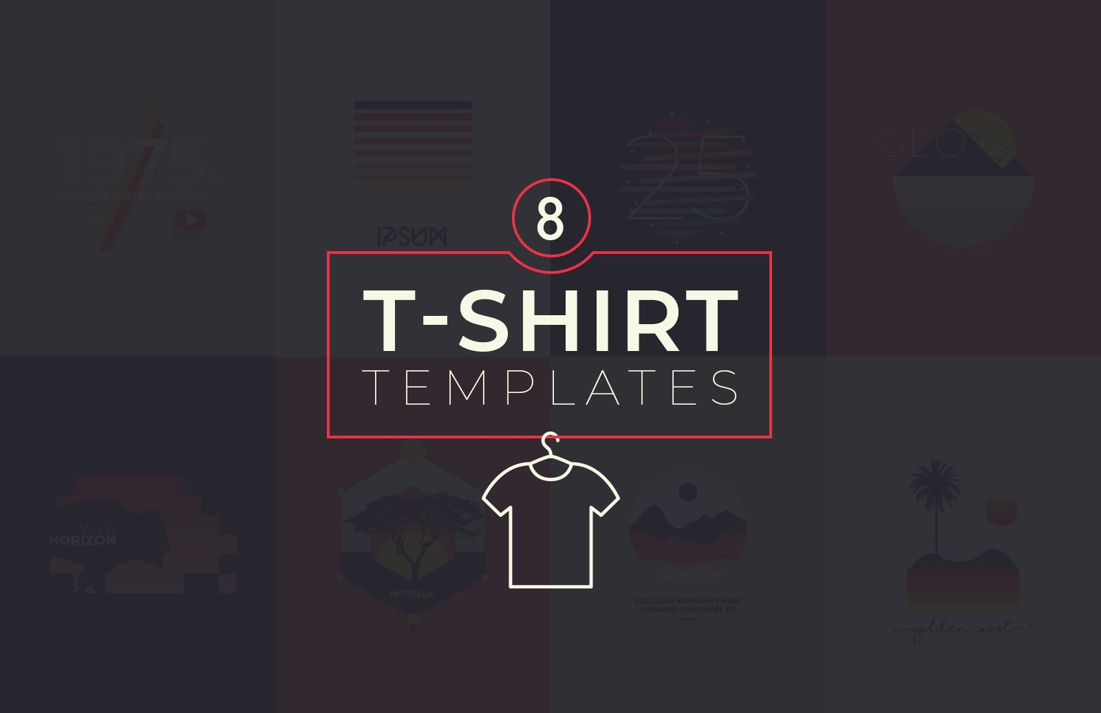 T Shirt Templates Preview 1