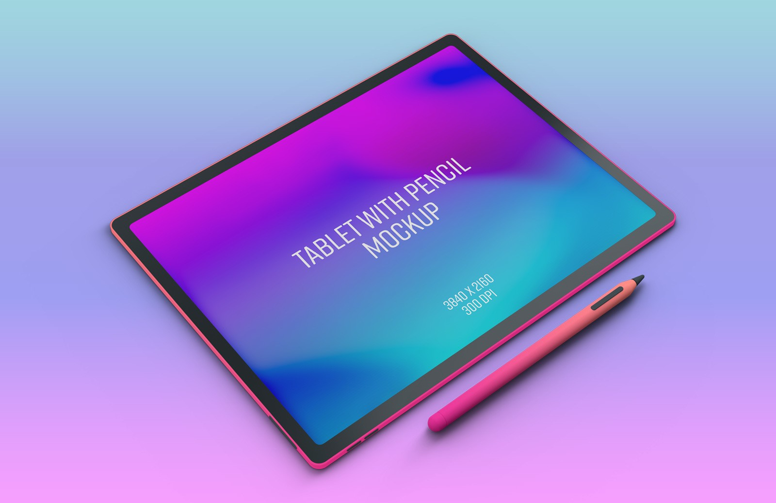 Tablet With Pencil Mockup Preview 1