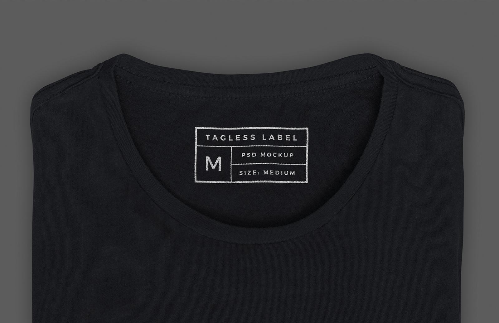 Apparel Tag Inside Label Mockup