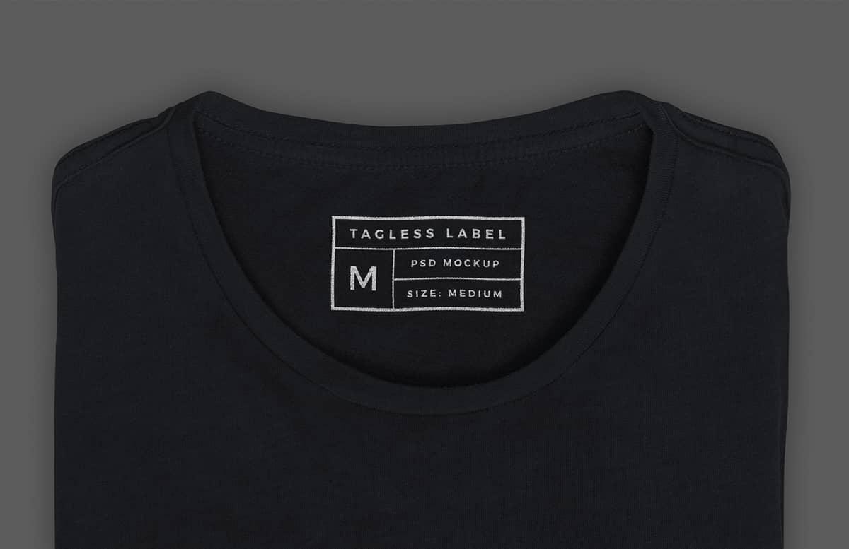 Tagless T Shirt Label Mockup Preview 1