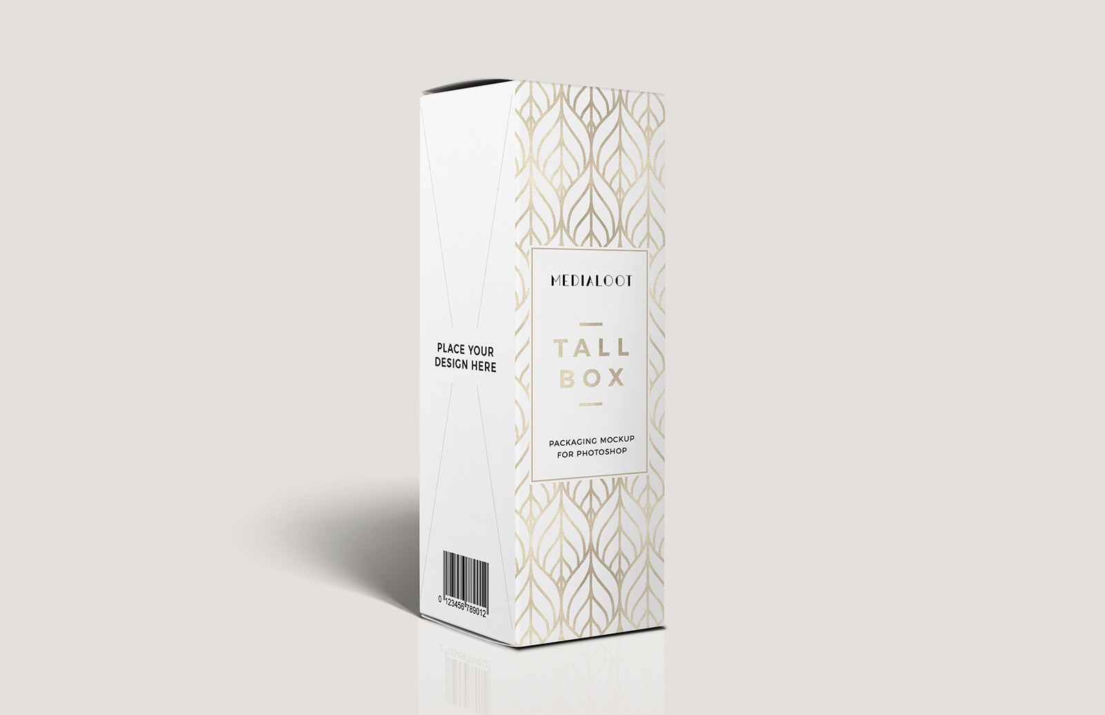 Tall Box Packaging Mockup For Photoshop Medialoot