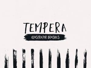 Tempera Strokes - Illustrator Brushes 1