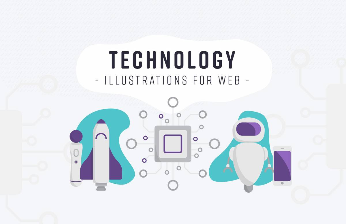 Technology Illustrations For Web Preview 1
