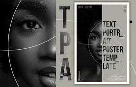 Text Portrait Poster Template