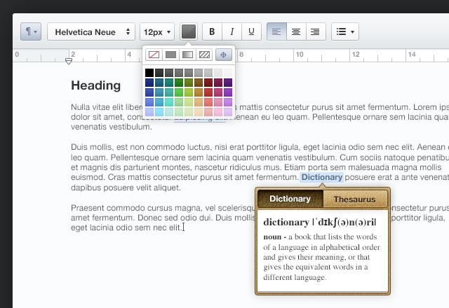 Text Editor User Interface PSD