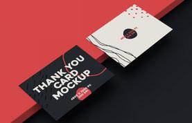 Thank You Card Mockup