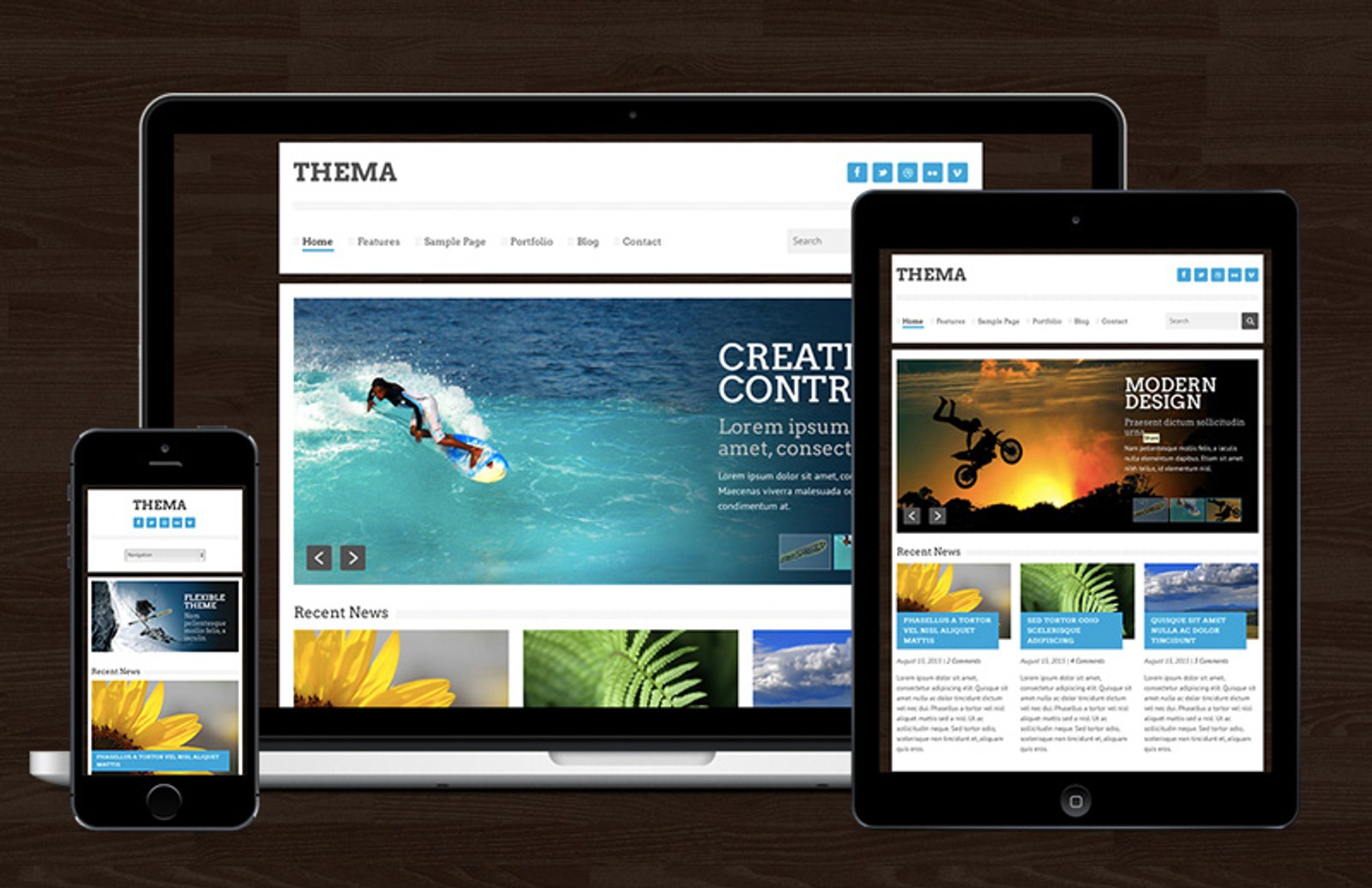 Thema  Responsive  Template  Preview 1