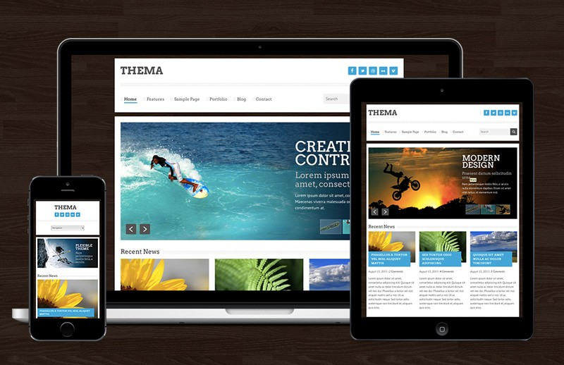 Thema - Responsive HTML Template