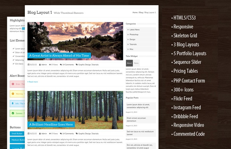 Thema - Responsive HTML Template 2