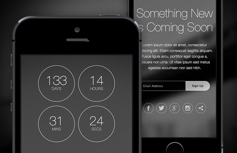Large Thin  Html5  Coming  Soon  Template  Preview 2