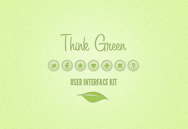 Think Green UI Kit