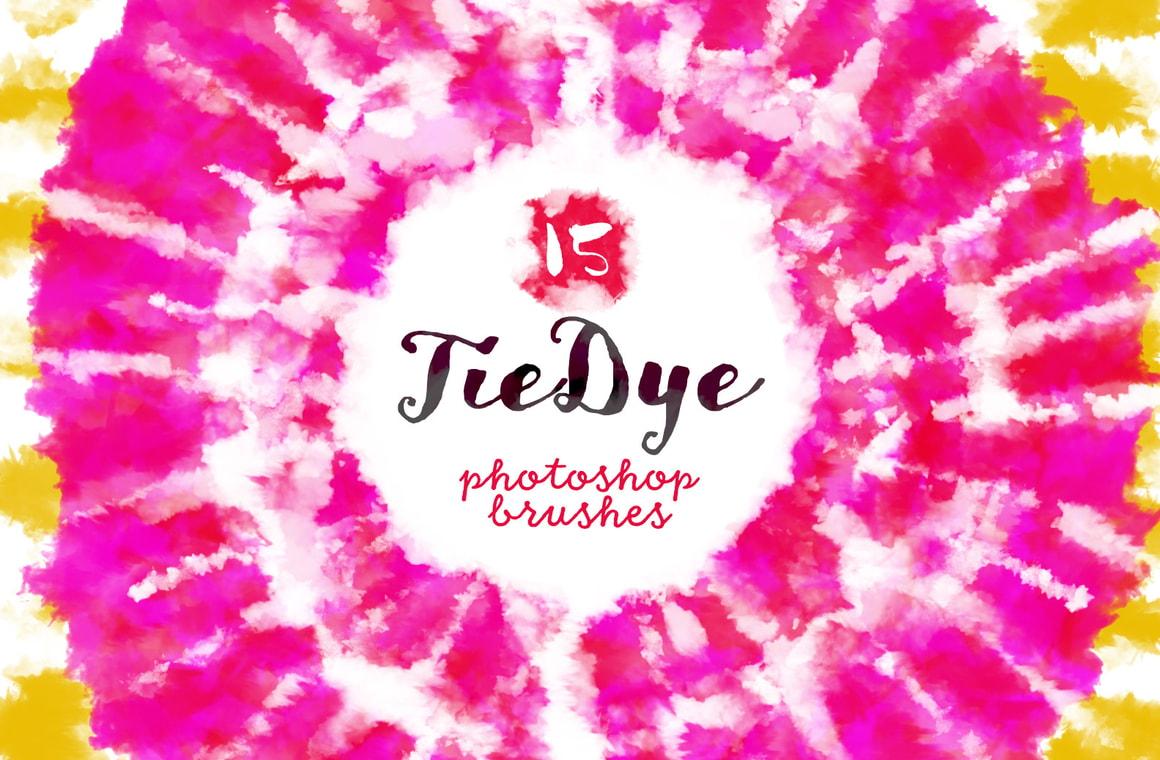 Tie Dye Photoshop Brushes