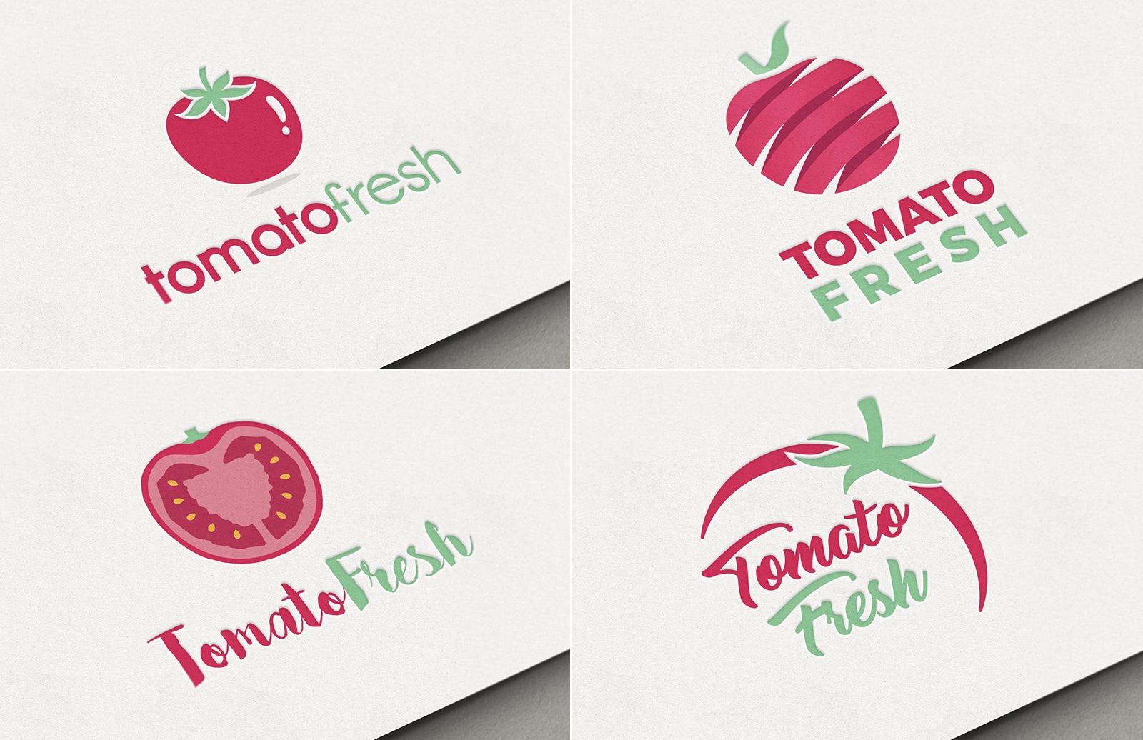 Free Tomato Restaurant Logo Pack 1