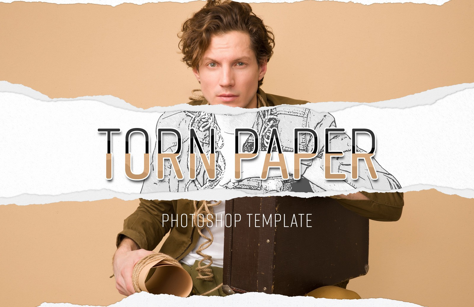 Torn Paper Photoshop Template Preview 1