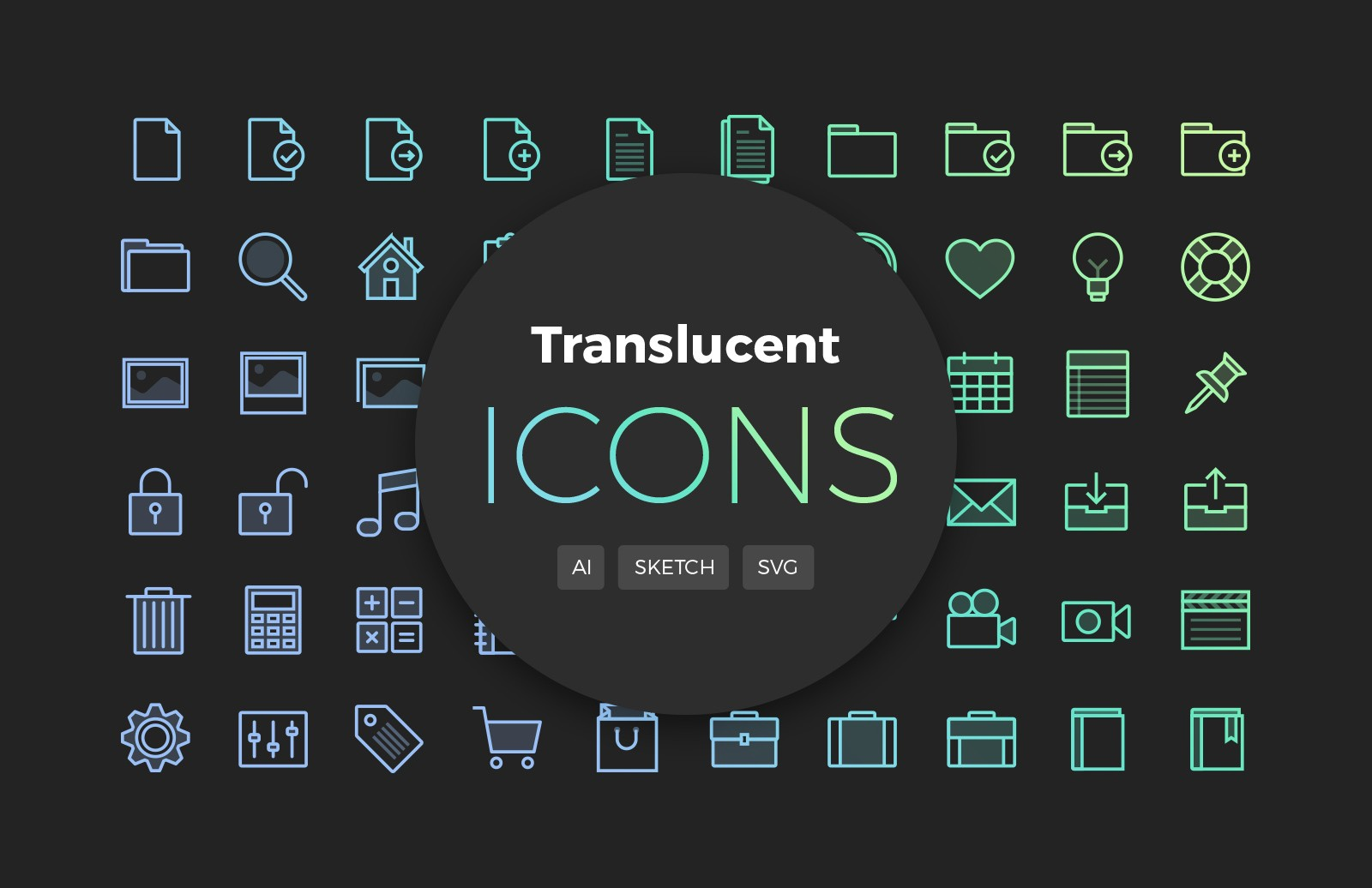 Translucent Vector Icons 2 Preview 1