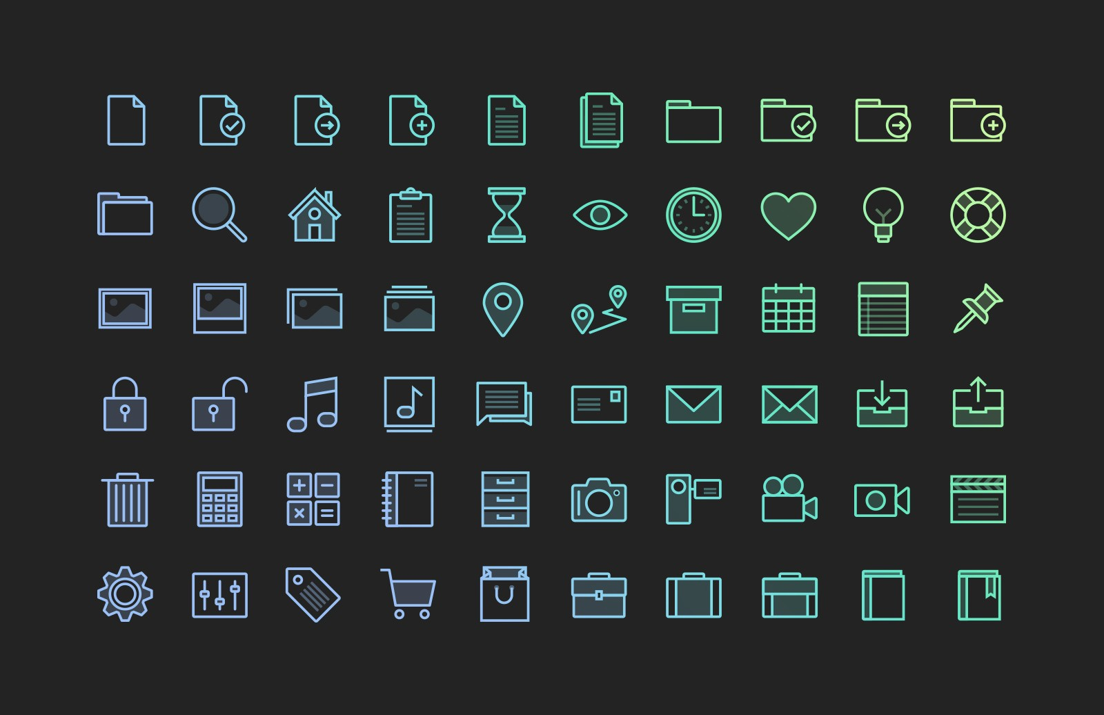 Translucent Vector Icons (Updated)