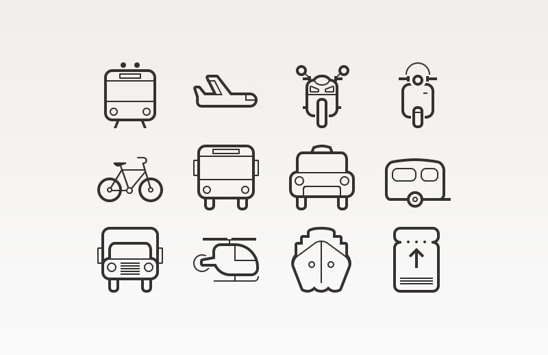 Transportation  Icons  Preview 1