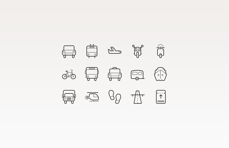 Large Transportation  Icons  Preview 2