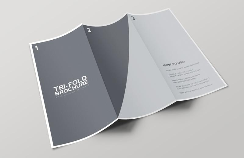 brochure mock up template - tri fold brochure mockup template medialoot