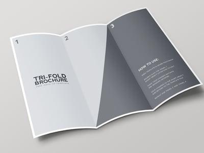Bi Fold Brochure Mockup Template Medialoot - Brochure mockup template