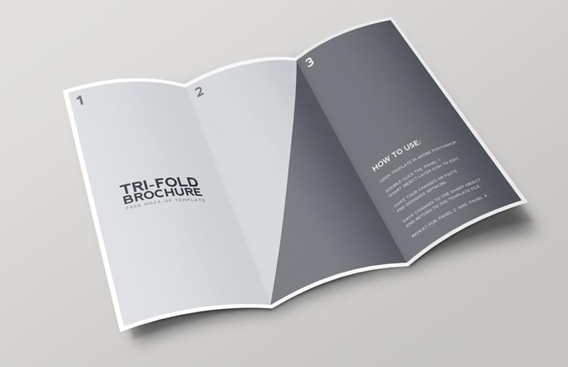 tri fold brochure mockup template medialoot