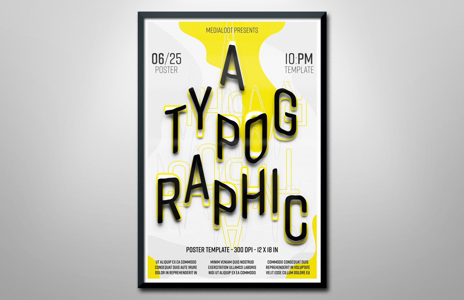 Typographic Poster Template Preview 1