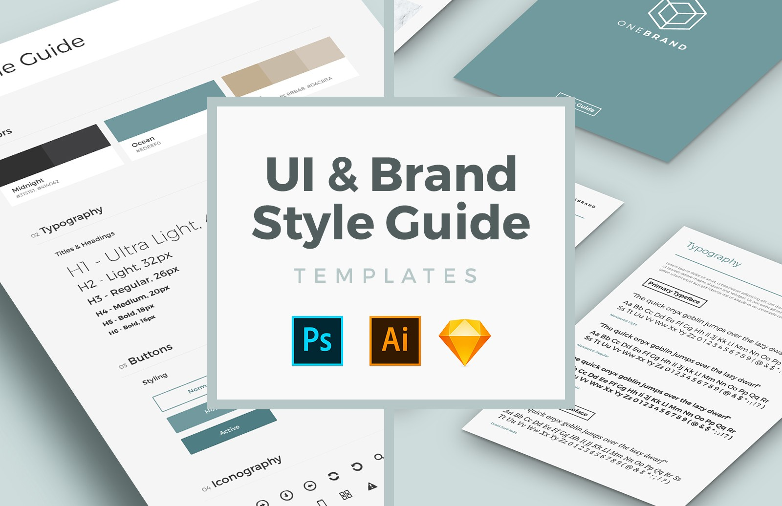 Free UI & Brand Style Guide Templates 1