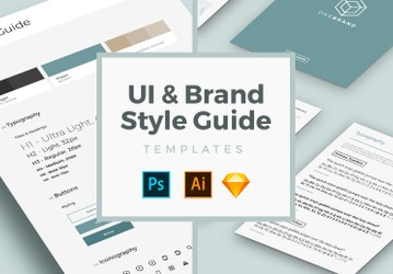 Free UI & Brand Style Guide Templates