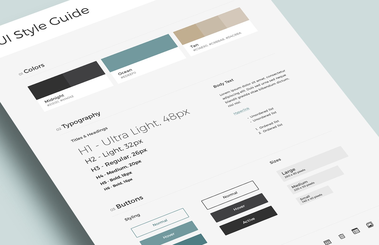 Free UI & Brand Style Guide Templates 2