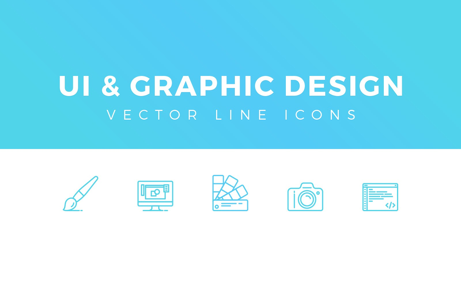 Ui Graphic Design Line Icons Preview 1