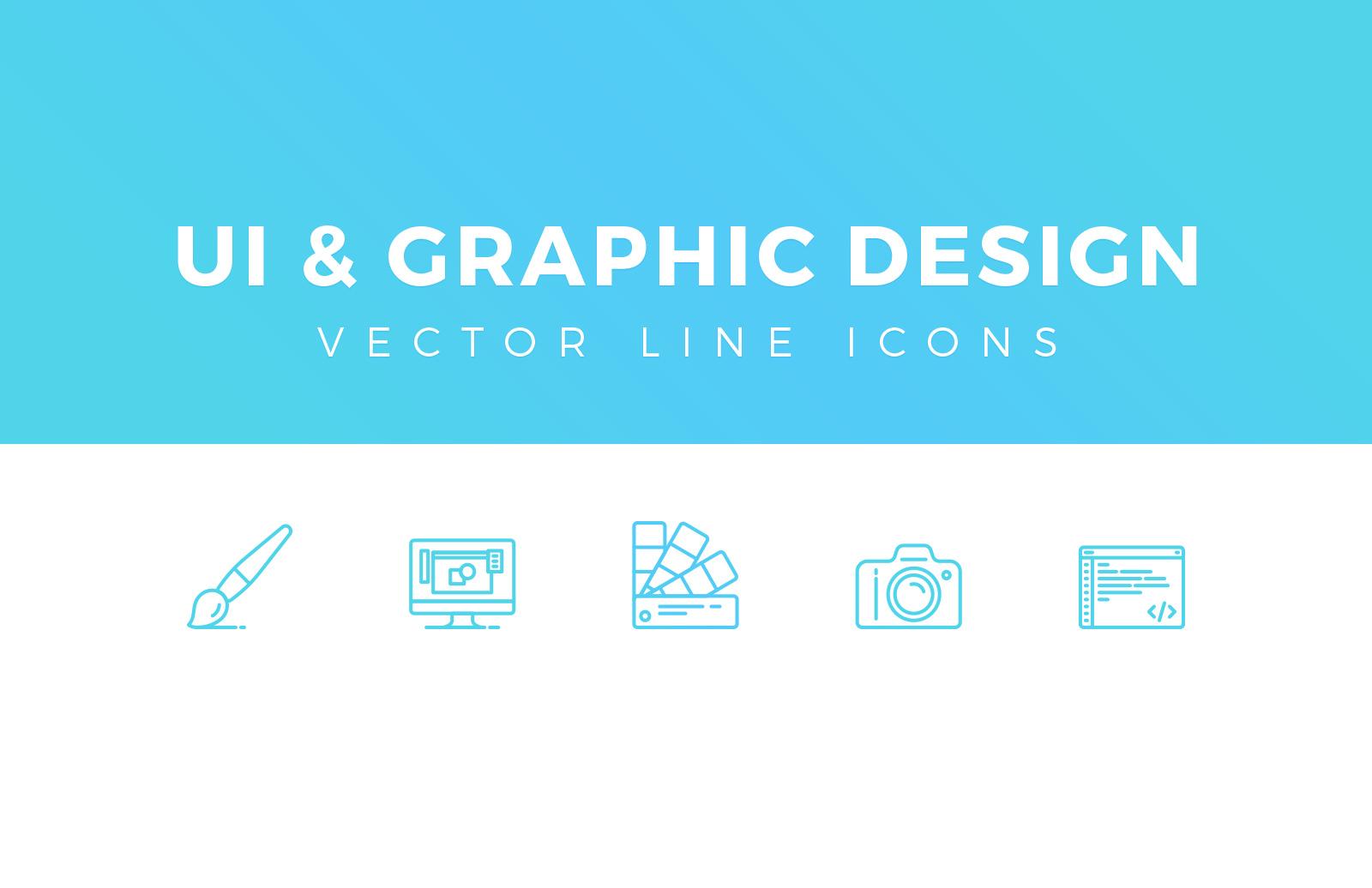 UI & Graphic Design Line Icons 1