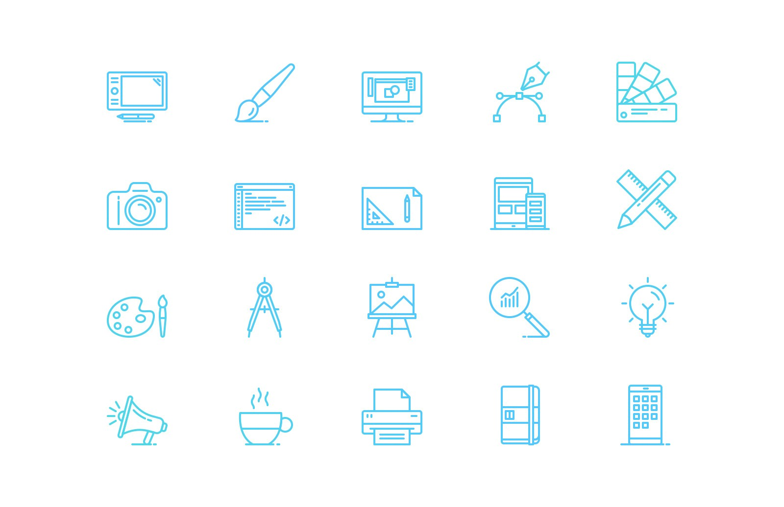 Ui Graphic Design Line Icons Preview 2