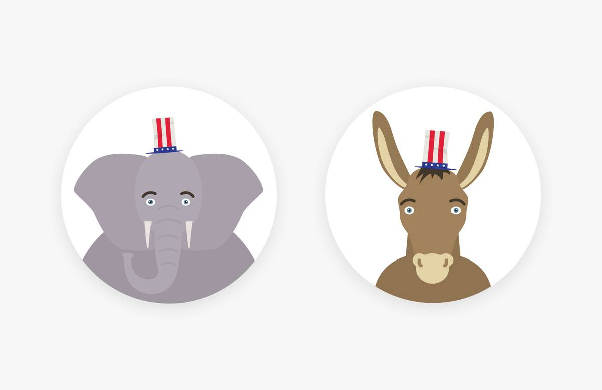 Us  Presidential  Candidates  Vector  Set  Preview 1