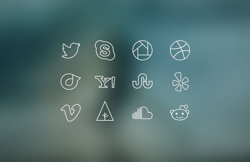 Large Ultra Thin  Social  Icons 800X518 1A