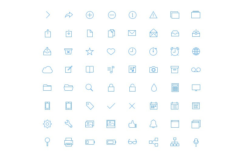Large Ultra Thin  Vector  Icons 7  Preview 1