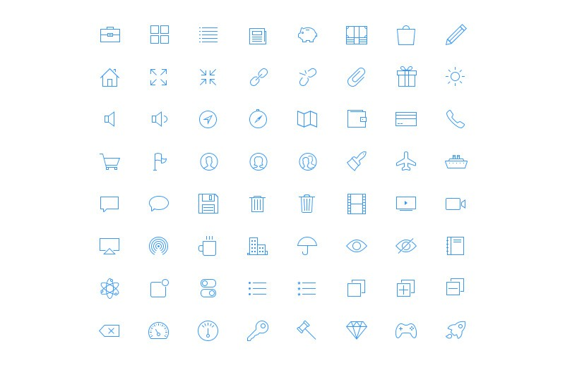 Large Ultra Thin  Vector  Icons 7  Preview 2