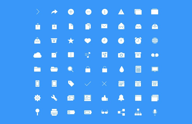 Large Ultra Thin  Vector  Icons 7  Preview 3