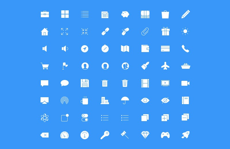 Large Ultra Thin  Vector  Icons 7  Preview 4