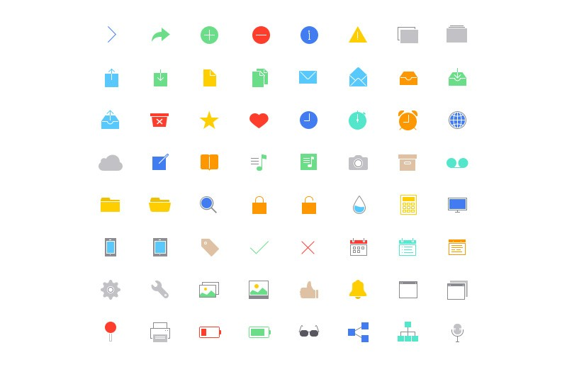 Large Ultra Thin  Vector  Icons 7  Preview 5