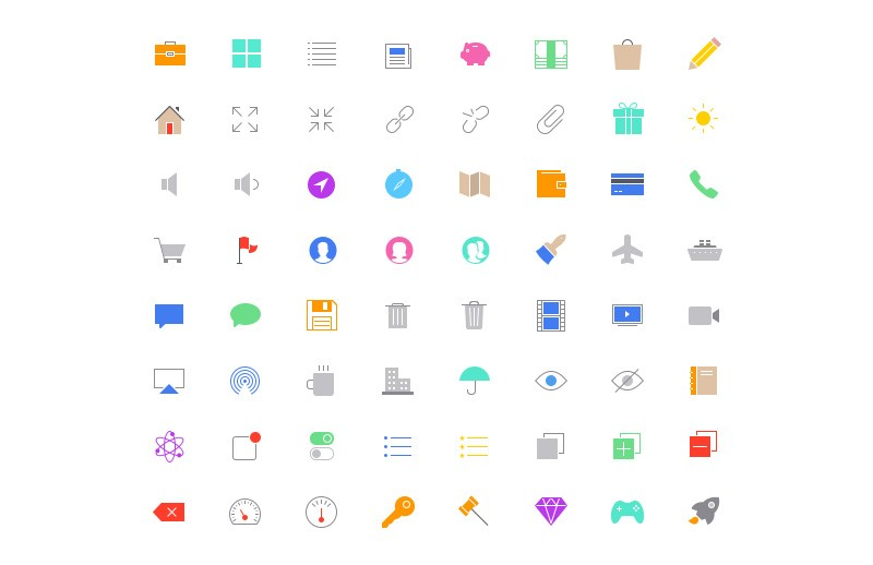 Large Ultra Thin  Vector  Icons 7  Preview 6