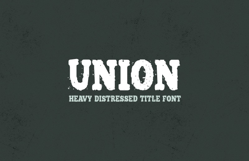 Large Union  Distressed  Title  Font  Preview 1