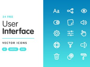 Free User Interface Vector Icons 1