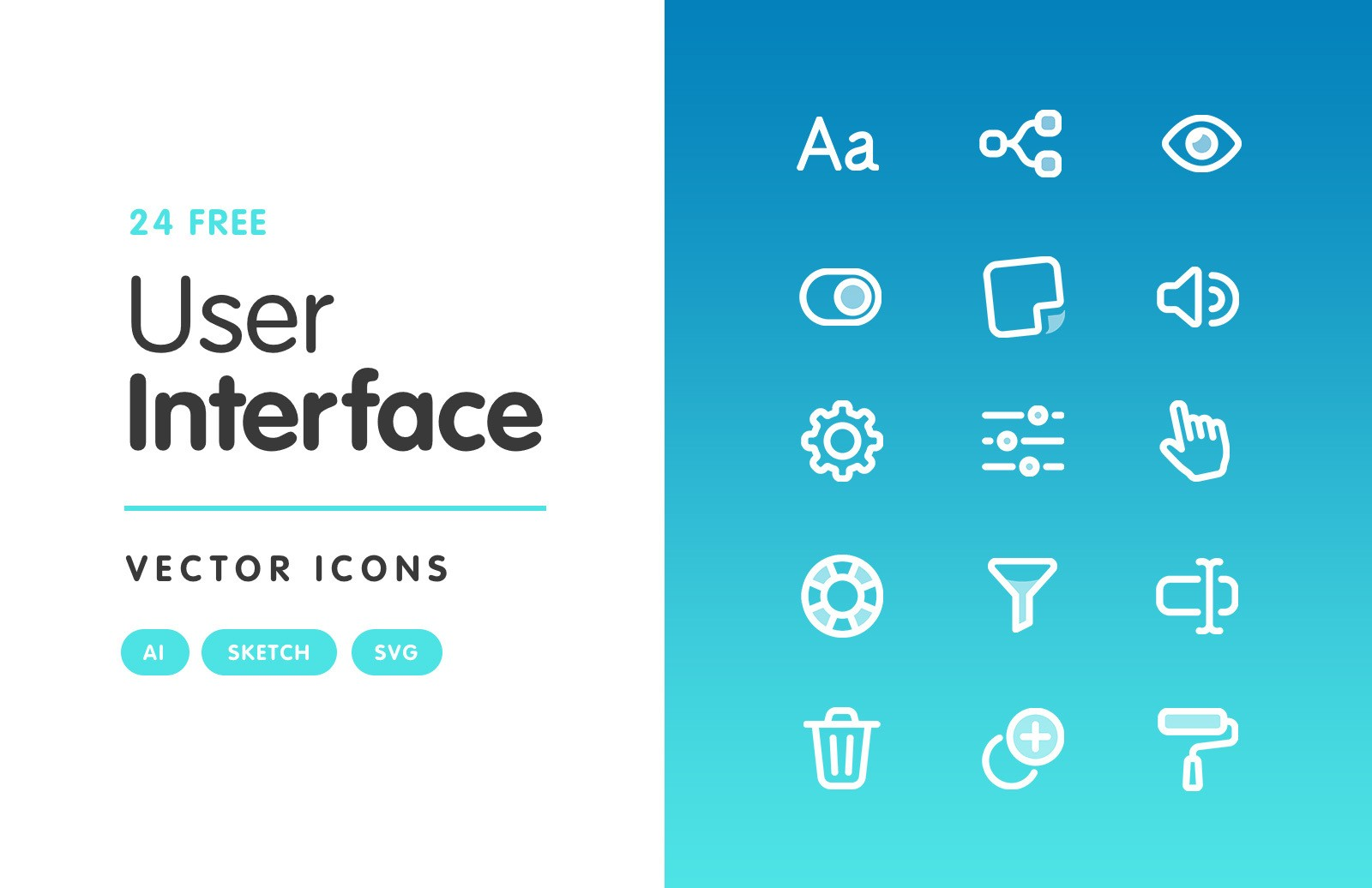 User Interface Vector Icons Preview 1