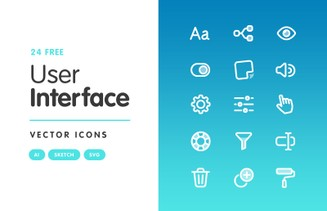 Free User Interface Vector Icons
