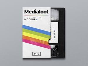 VHS Cassette Cover Mockup 1